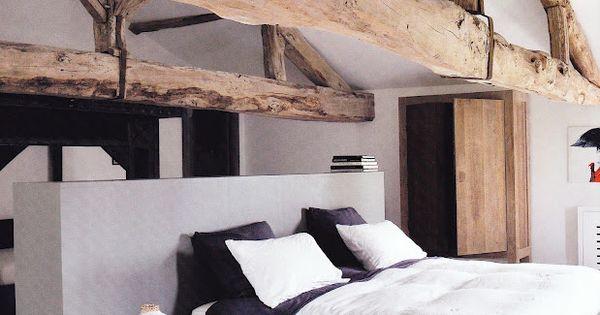 Wood beams home sweet home inspiration pinterest houten balken balken en slaapkamer - Tienerjongen slaapkamer ...
