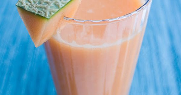 Amazing color in this fresh Cantaloupe juicing recipe! I want some right