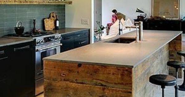 La cuisine avec lot central id es de d coration et - Meuble ilot central cuisine ...