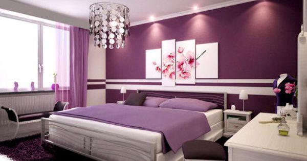 purple bedroom bedroom decor bed purple interior design purple room @Sarah Chintomby