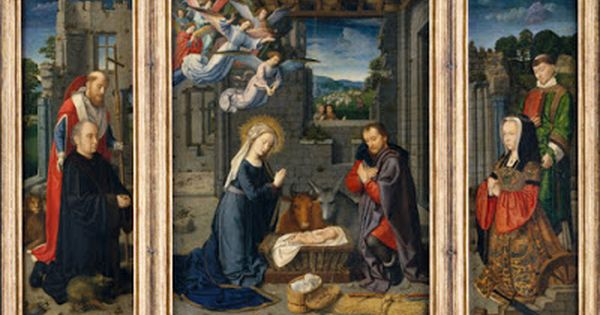 Heart Of A Ready Writer 9 Traditional Triptych Nativity Art Nativity With Donors And Sts Jerome And Leonard By David Gera Gerard David Triptych Nativity