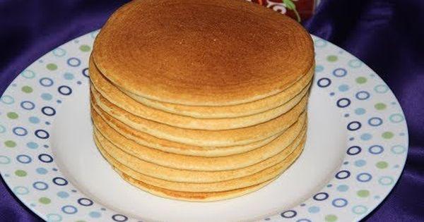 حرشة خفيفة و هشيشة على طريقة البان كيك من أسهل وألذ ما يكون Youtube Food Pancakes Breakfast