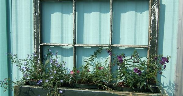 I love old windows and the planter box idea.