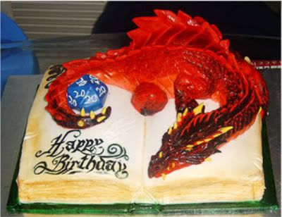 Magnificent Larper Food Dungeons Dragons Cake Geeky Cake With Images Personalised Birthday Cards Veneteletsinfo