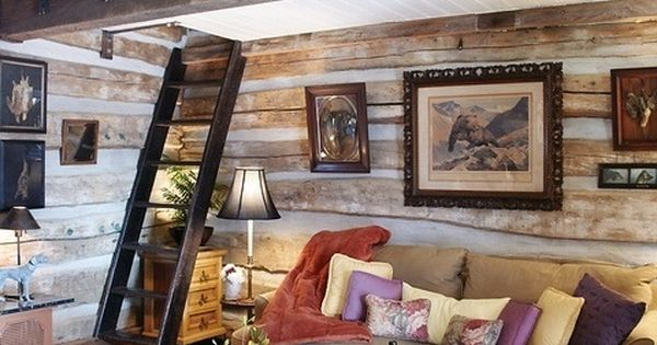 Beautiful log cabin interior with loft space house plans for Mansarde arredate