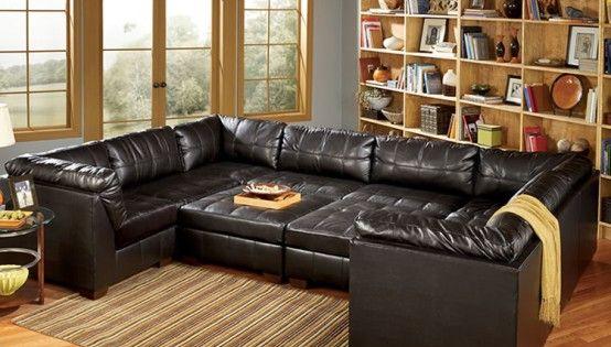 Furniture Leather Modular Sofa Leather Loveseat Oversized