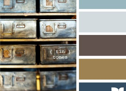 tin tones. awesome colors for the home, or great color scheme for