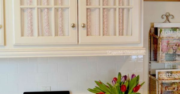 How To Cover Glass Cabinet Doors With Fabric Glass Doors
