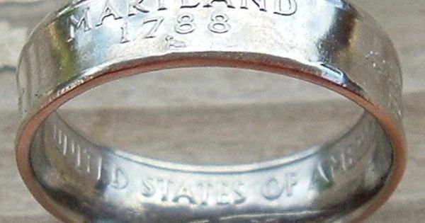 Maryland This Is So Cool He Turns Coins Into Rings Coin Ring Ring Displays State Quarters