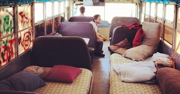 Jbuy an old bus, replace seats with beds and take a road