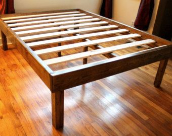 Rustic Wood Minimalist Bed Frame Twin Full Queen King Bed Frame Plans Wooden Bed Frames Wooden Platform Bed