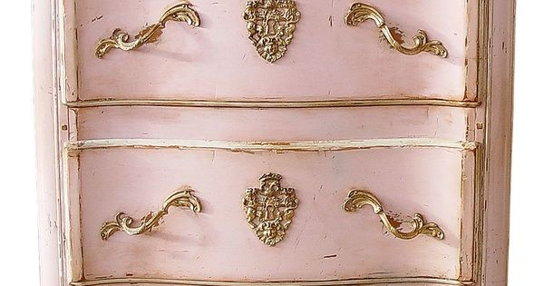 Commode style Louis XV. Moissonnier / pink night stand / side table