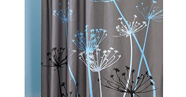 Interdesign Thistle Shower Curtain 72 X 72 Gray Blue Bathroom Accessories Bath And Funky