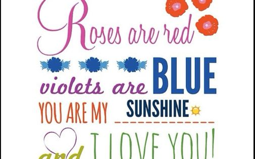 roses are red violets are blue poems signs