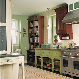 Eclectic Kitchen Mixing Furniture Cabinet Styles In The Kitchen Eclectic Kitchen Kitchen Bookshelf Unfitted Kitchen