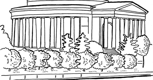 Jefferson memorial page coloring pages for Lincoln memorial coloring page