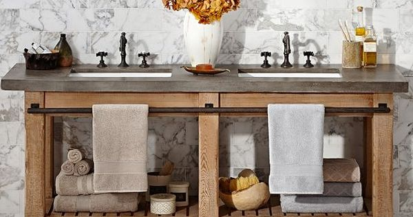so cute  could totally build this instead of buying it  abbott double sink console