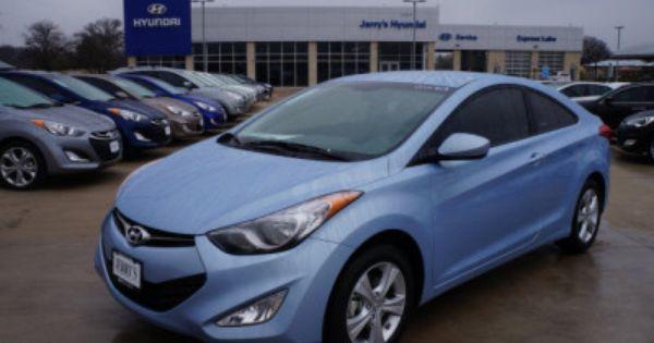 2013 Hyundai Elantra Coupe Gs In Sky Blue Hyundai Elantra