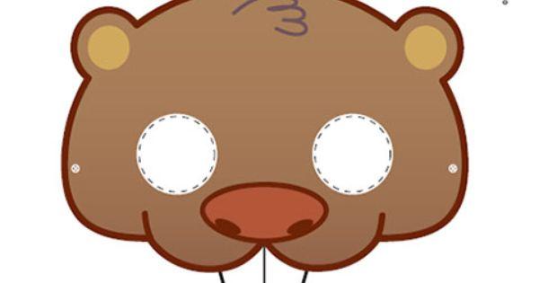 Printable beaver mask Scouting