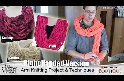 Arm Knitting Techniques : Arm knitting ultra bulky scarves tutorial youtube