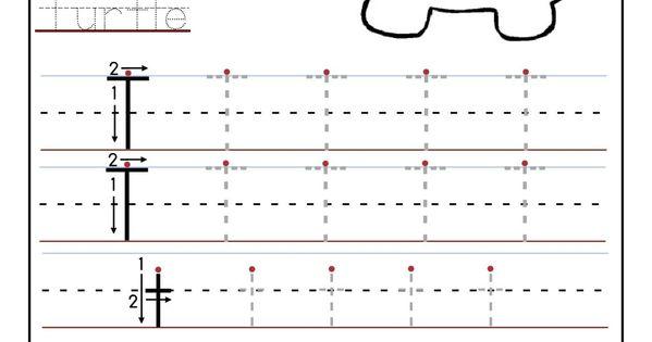printable letter t tracing worksheets for preschool mfw k unit 06 turtle pinterest tracing. Black Bedroom Furniture Sets. Home Design Ideas