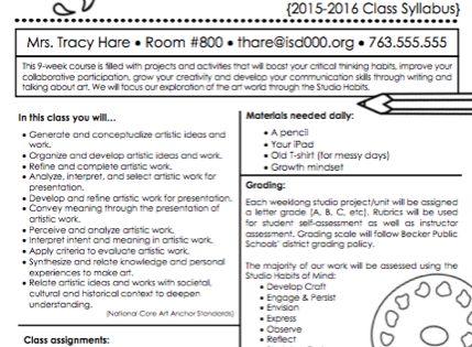 creative writing class syllabus high school