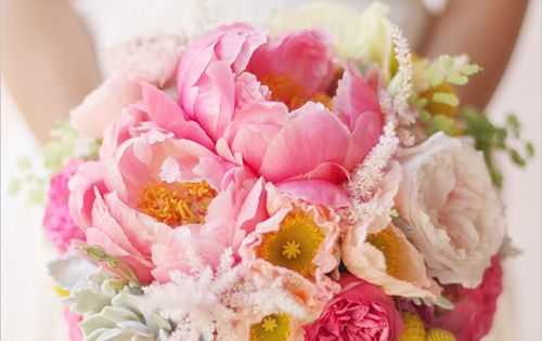 Flower Inspiration wedding flowers bouquet peonies