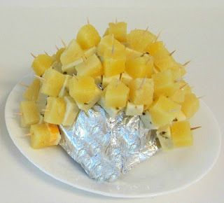 80s Party Food Ideas Cheese And Pineapple Hedgehog 80s