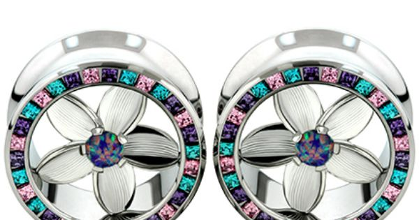 Cocobul Body Jewelry Pair of Stainless Steel Screw Fit Tunnel Ear Plugs