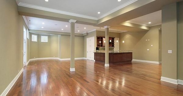 Finished basement ideas on a budget wood floor basement redo pinterest - Finished basement ideas on a budget ...