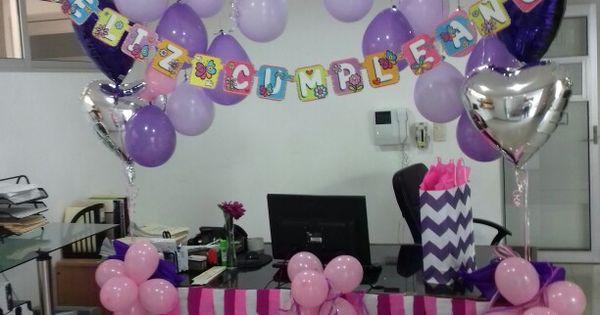 office  birthday  cumplea u00f1os  oficina  decoraci u00f3n