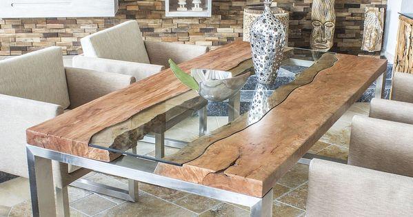 der tischonkel designertisch massivholztisch mit glas und edelstahl tisch pinterest. Black Bedroom Furniture Sets. Home Design Ideas