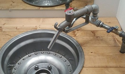 My Mechanic Drag Racing Husband Built This Wheel Sink For