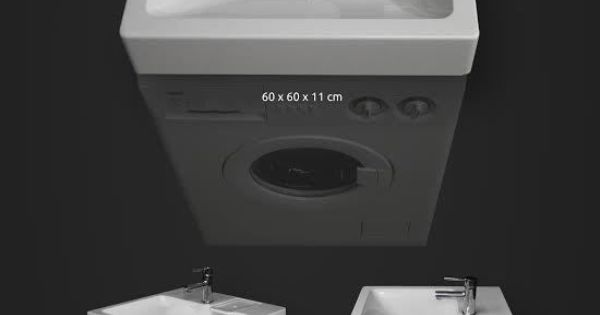 Lavabo gain de place pour machine laver decora o pinterest laundry tiny houses and - Machine a laver gain de place ...