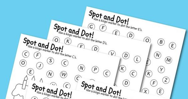 Spot & Dot: Uppercase Alphabet Pages