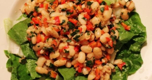 White bean salads, Bean salads and White beans on Pinterest