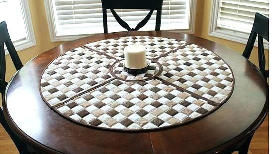 Round Table Placemats For Tables, Placemats For Round Tables Wedge Pattern