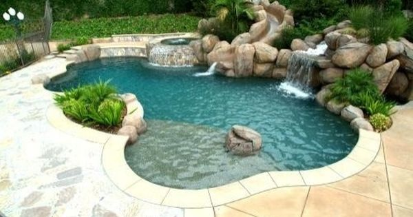 Dream pool with hot tub dreamhouse