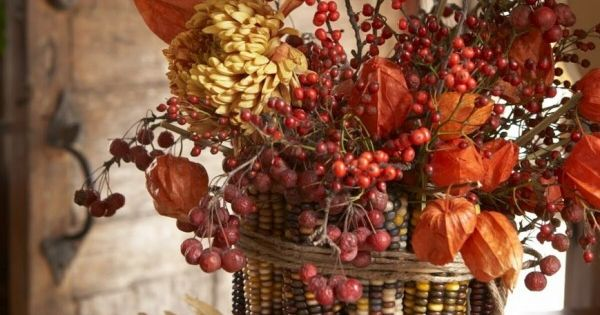Autumn Indian Corn Centerpiece.