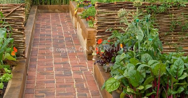 brick paths between raised beds Dream garden!!