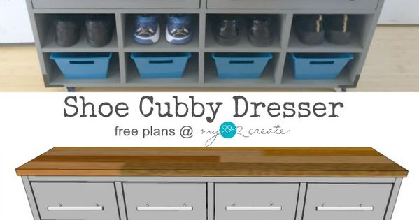 Build Your Own Shoe Cubby Dresser For Your Entryway