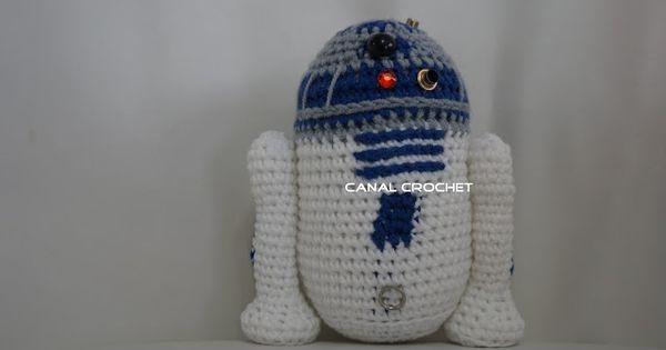 Free Crochet Pattern Small Doll : R2d2 Amigurumi de Star Wars - Patron Gratis en Espanol ...
