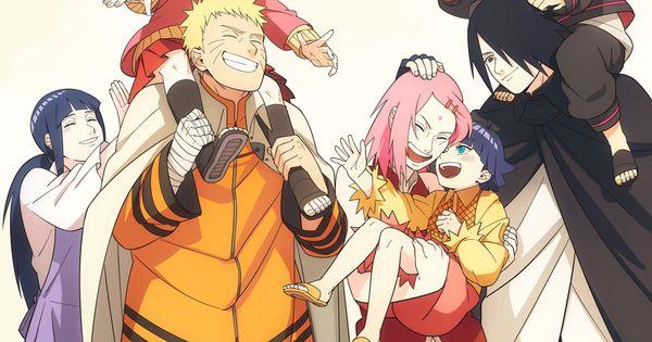 Naruto An Hinata S Family With Sakura And Sasuke S Family Art At Repinned Net
