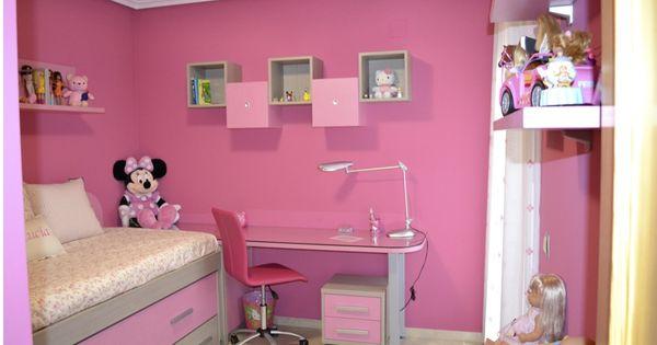 Ejemplo dormitorio juvenil ni a cuartos pinterest - Dormitorio juvenil nina ...
