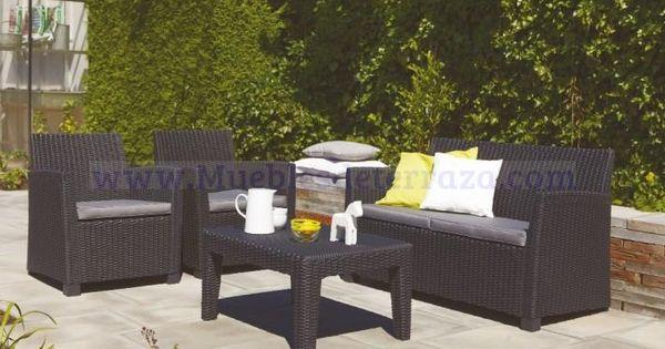 conjunto de sof s de terraza exterior en resina sint tica