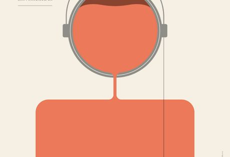 This Gotye concert poster is simple, colorful, and cleverly designed. The paint