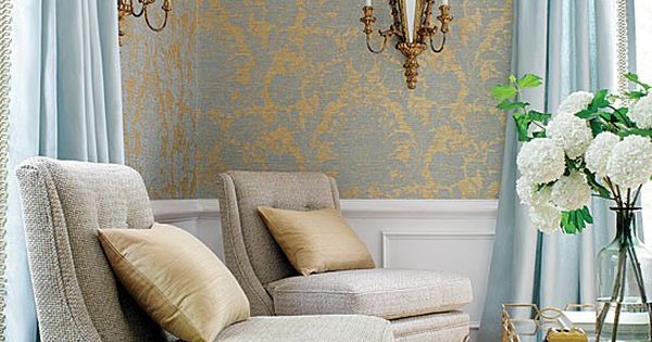 Victorian French Blue And Gold For The Living Room Great