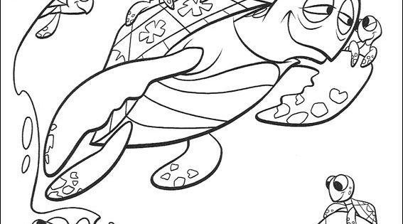 nemo crush coloring pages - photo#15