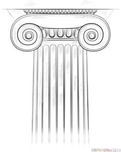 How To Draw The Ionic Column Step By