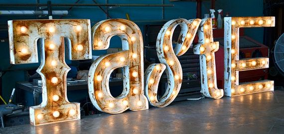 Retro Marquee Letter Set By Fosterweld Vintage Marquee Sign Lighted Marquee Letters Vintage Marquee Lights